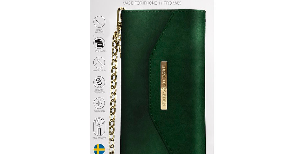 iDeal Of Sweden 11 Pro Max Mayfair Clutch Velvet, Green