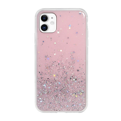 SwitchEasy iPhone 11 Pro Starfield PC+TPU Case, Transparent Rose