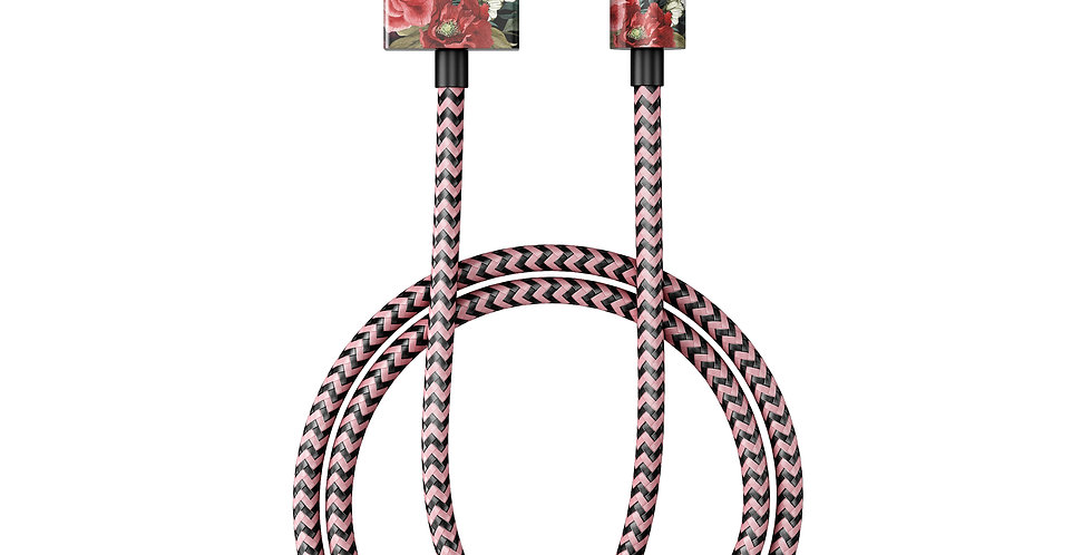 iDeal Of Sweden Fashion Lightning Cable (MFI), 2M Antique Roses
