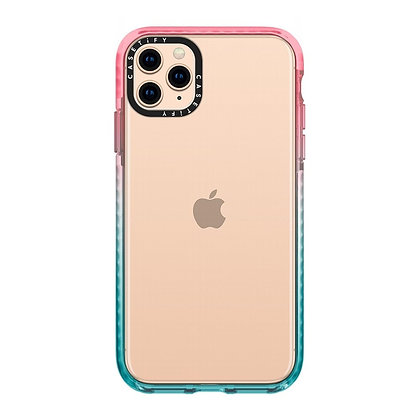 """Casetify iPhone 11 Pro Max 6.5"""" Impact Case, Pink/Blue"""