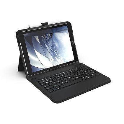 "ZAGG iPad 10.2"" / iPad Pro/Air 10.5"" Messenger Folio Keyboard Case, Charcoal"