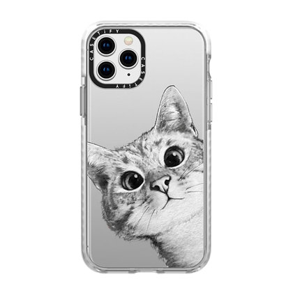 Casetify Impact Case iPhone 11 Pro, Peekaboo Cat On Rose Gold