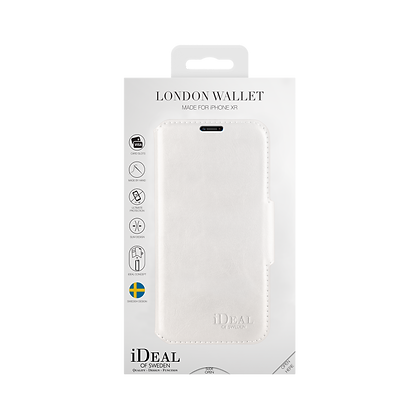 iDeal Of Sweden London Wallet iPhone XR, White