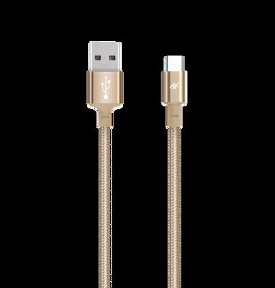 iFrogz Unique Sync Premium USB-C 3.1 To USB-A 3.1 Nylon Braided Cable, 1.8M