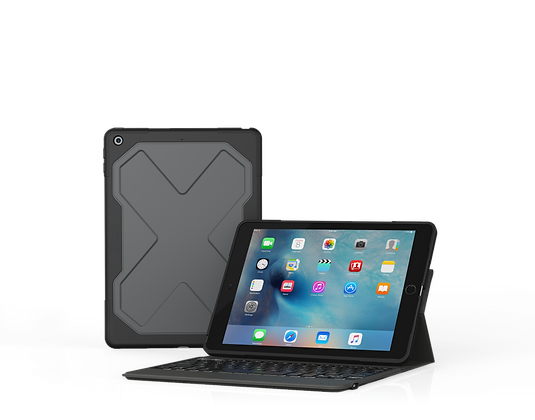 ZAGG Rugged Messenger Keyboard  iPad 9.7-inch, Black