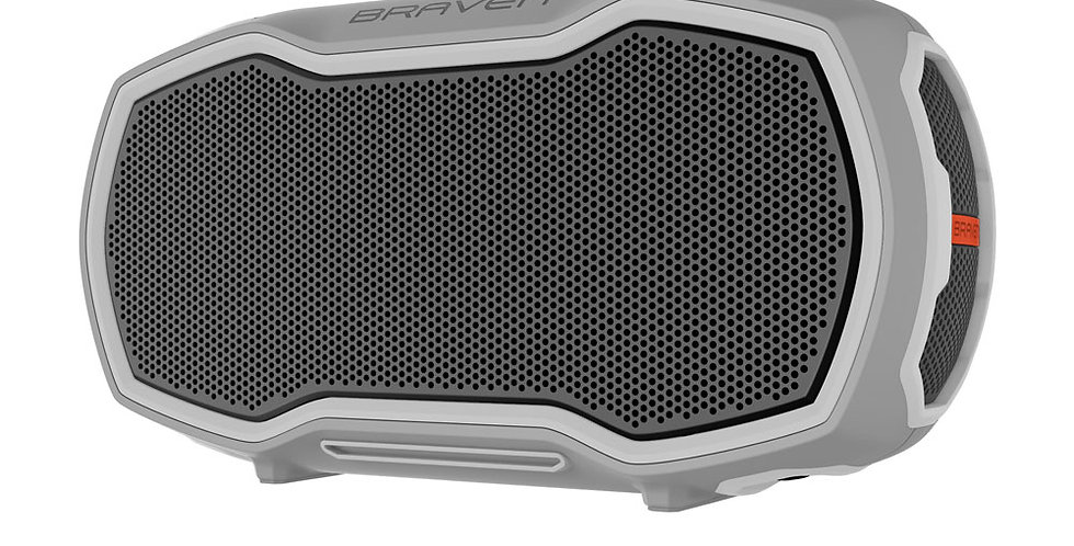 Braven Speaker Ready Elite Outdoor Waterproof Bluetooth, Grey/Orange