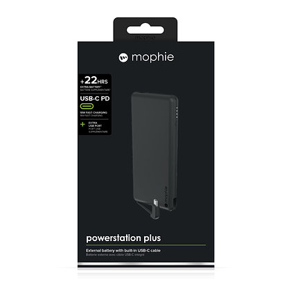 Mophie Powerstation Plus USB-C External Battery, Matte Black