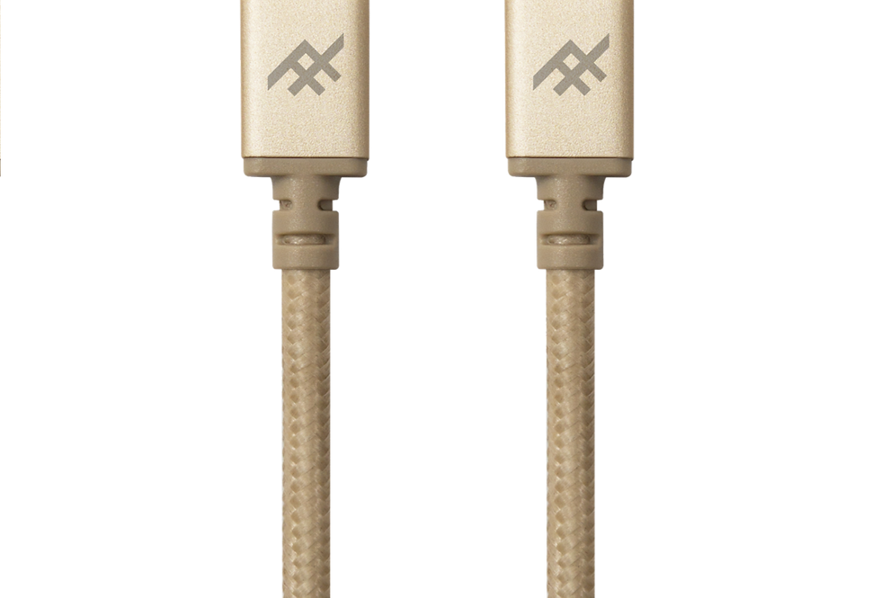 iFrogz Unique Sync Premium USB-C 3.1 to USB-C 3.1 Nylon Braided Cable, 1M