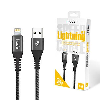 Hoda W1 Lightning Cable - 1 Meter Black
