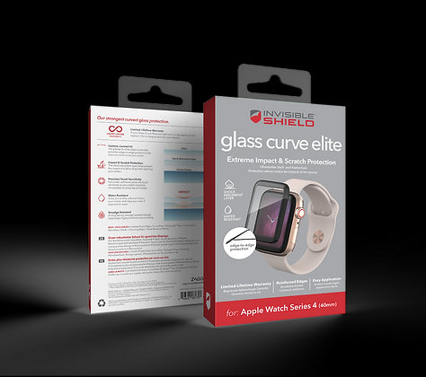 InvisibleShield Glass Curve Elite Apple Watch Series 4/5