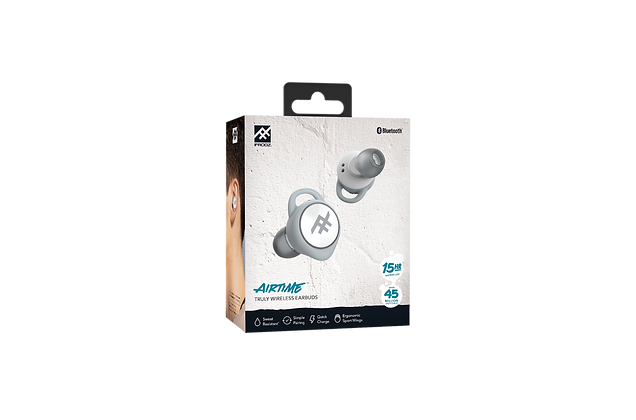 iFrogz Audio Airtime True Wireless Stereo Earbuds, White