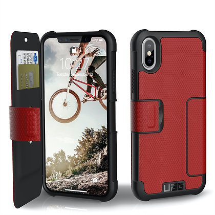 UAG iPhone X Metropolis Case, Magma/Silver (Red)