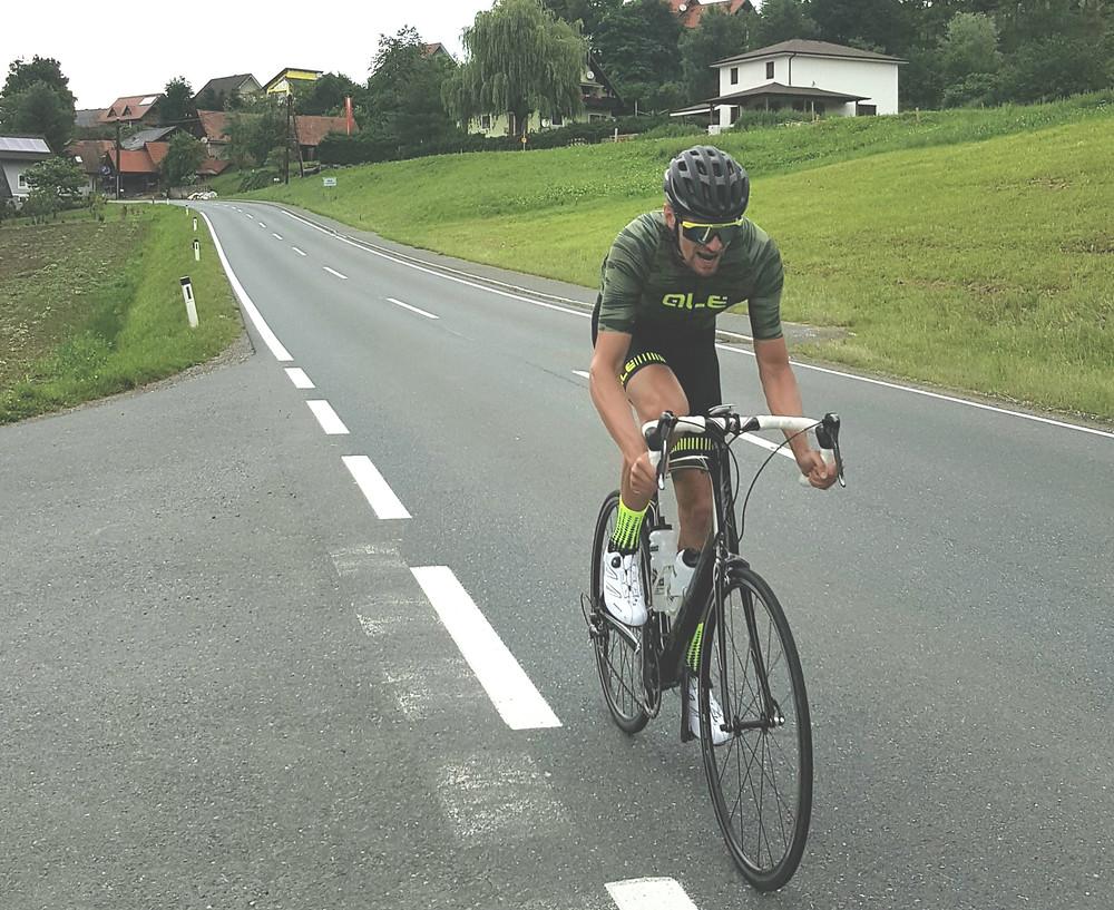 Christoph auf dem Rennrad