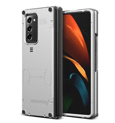 VRS Design Samsung Galaxy Z Fold 2 Hard Drop Active Case,Light Silver