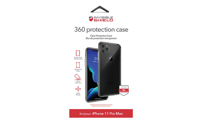 InvisibleShield 360 Protection Case iPhone 11 Pro Max, Ultra Clear