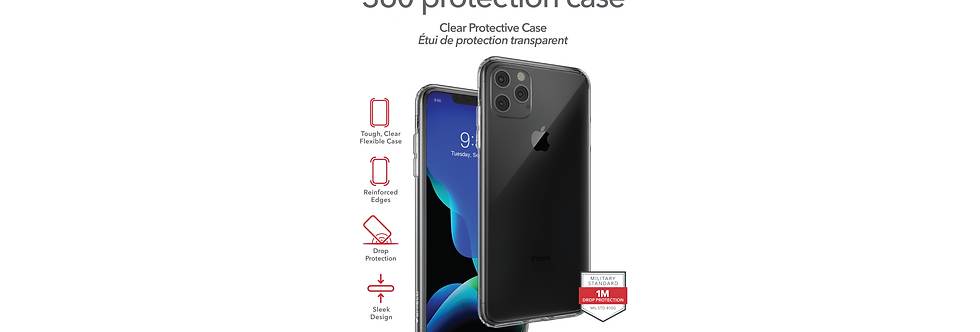 InvisibleShield iPhone 11 Pro Max 360 Protection Case, Ultra Clear