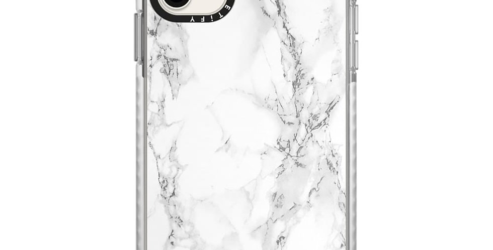 Casetify Impact Case iPhone 11, White Marble