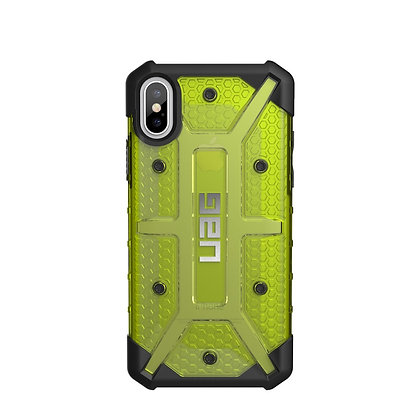 UAG iPhone X Plasma Case, Citron/Black/Silver (Yellow Transparent)