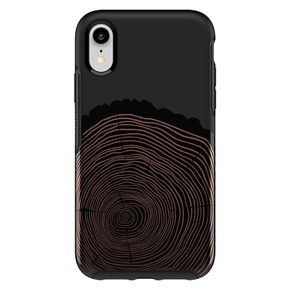 OtterBox Symmetry Series IML iPhone XR , Wood You Rather (Black/Graphic)