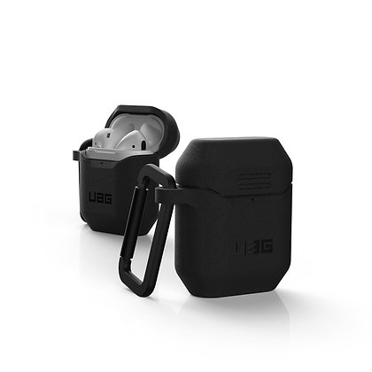 UAG AirPods 1/2 Water/Dust Resistant Silicone Case, Black/Black