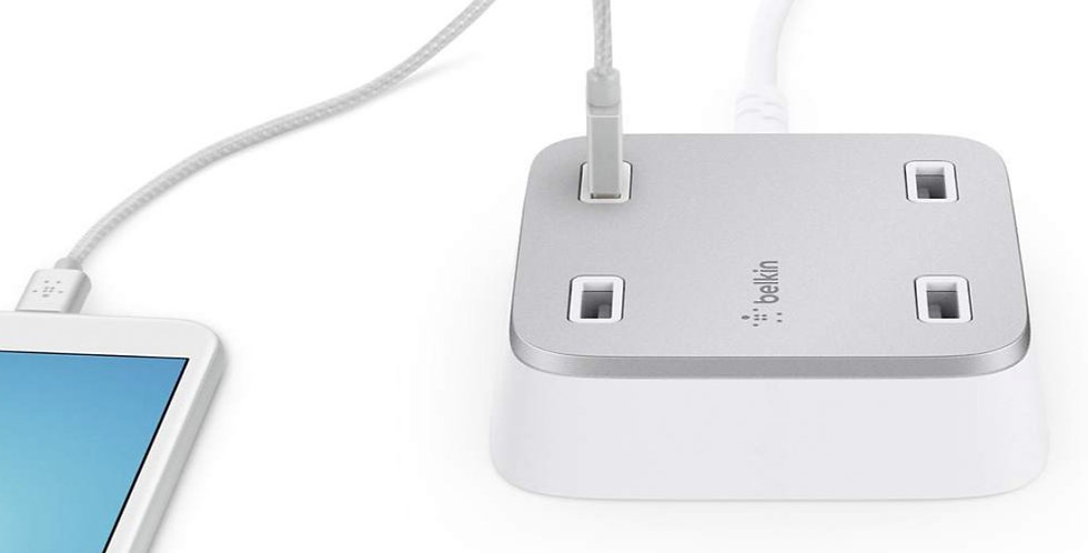 Belkin Rockstar Family 4-Port USB Home Charger (5.4A)