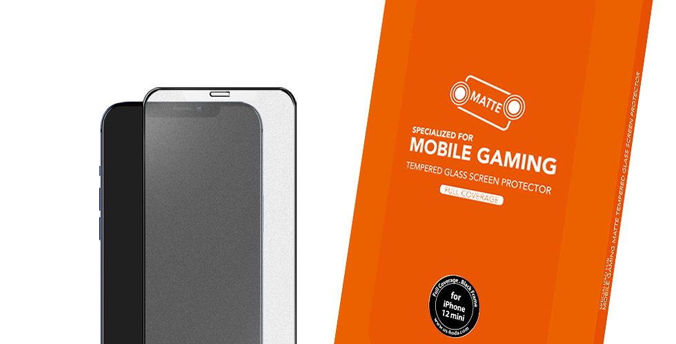 Hoda iPhone 12 mini Tempered Glass, Full Coverage Anti-Glare