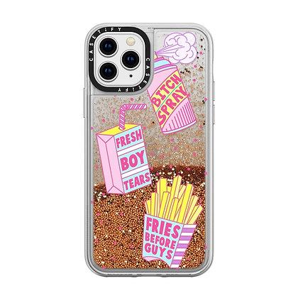 Casetify Glitter Case iPhone 11 Pro, Gold Chrome Girl Gang Starter Pack