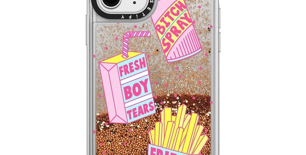 Casetify iPhone 11 Pro Glitter Case, Gold Chrome Girl Gang Starter Pack