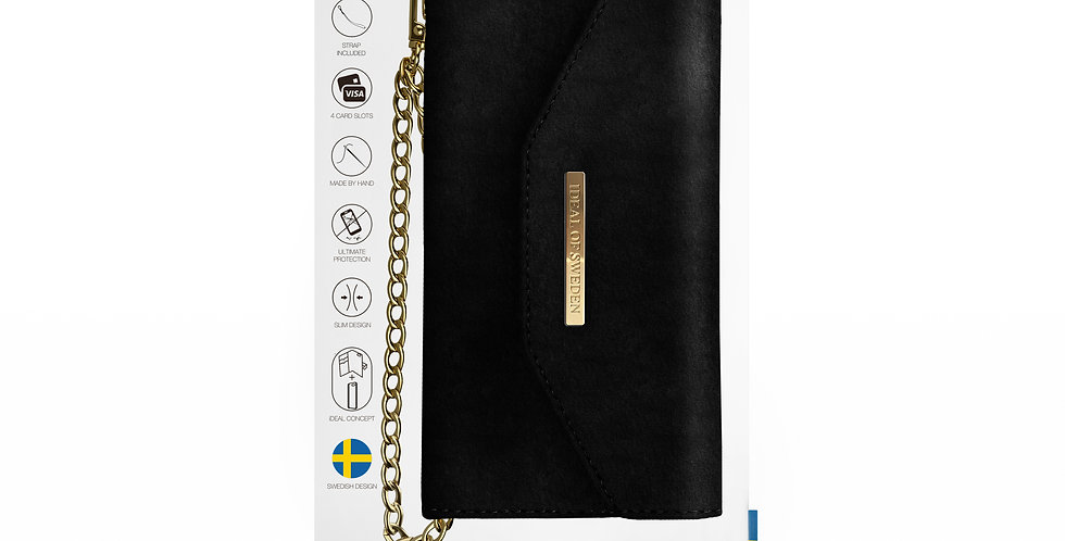 iDeal Of Sweden 8/7/6/6s Plus Mayfair Clutch Velvet, Black