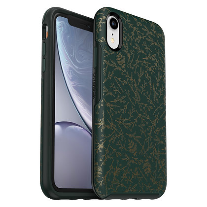 OtterBox Symmetry Series IML iPhone XR, Play The Field (Green/Scarab)