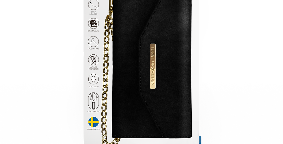 iDeal Of Sweden iPhone X/Xs Mayfair Clutch Velve, Black