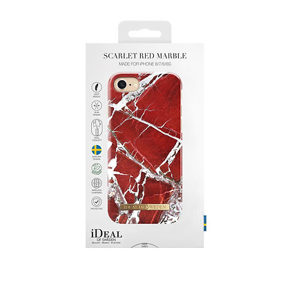 iDeal Of Sweden Fashion Case iPhone 8/7/6/6S, Scarlet Red Marble