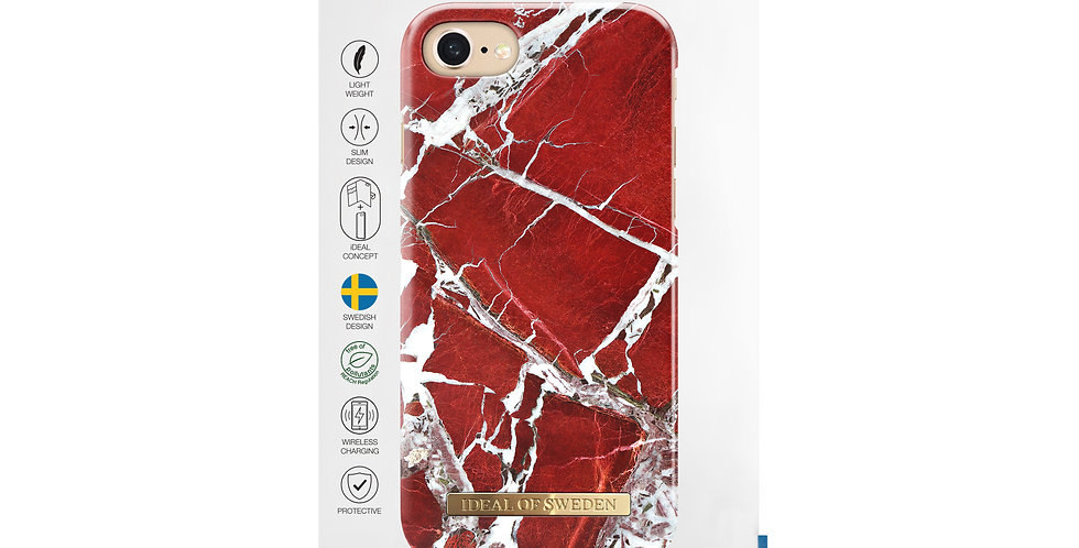 iDeal Of Sweden iPhone 8/7/6/6s Fashion Case, Scarlet Red Marble