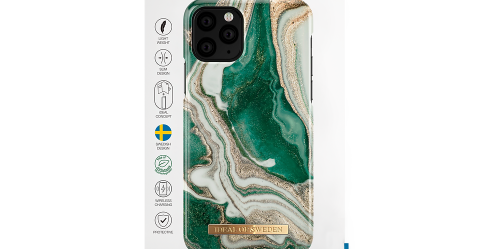 iDeal of Sweden iPhone 11 Pro Fashion Case 2019 Golden Jade Marble
