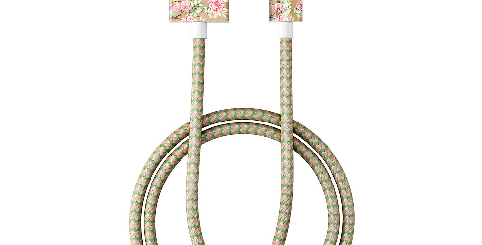 iDeal Of Sweden Fashion Lightning Cable (MFI), 1M Champagne Birds