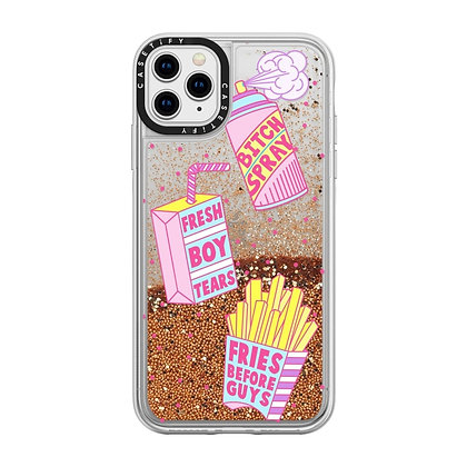 Casetify iPhone Glitter Case 11 Pro Max, Gold Chrome Girl Gang Starter Pack