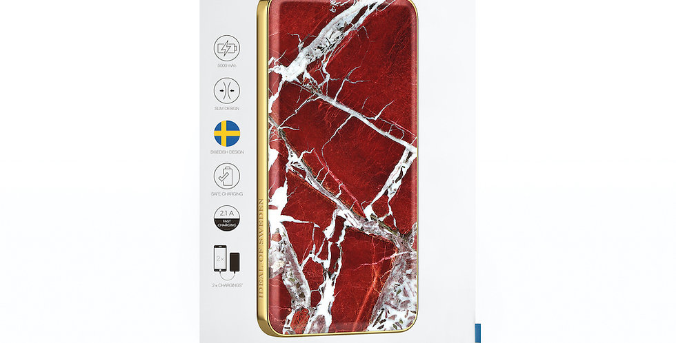iDeal Of Sweden Fashion Power Bank Li-Polymer, Scarlet Red Marble