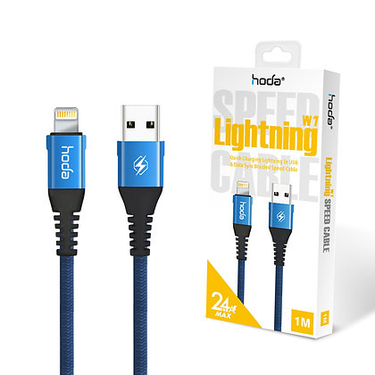Hoda W1 Lightning Cable - 1 Meter Blue