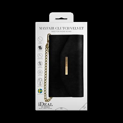iDeal Of Sweden Mayfair Clutch Velvet iPhone Xs Max, Black