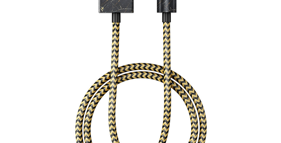 iDeal Of Sweden Fashion Lightning Cable (MFI), 1M Port Laurent Marble