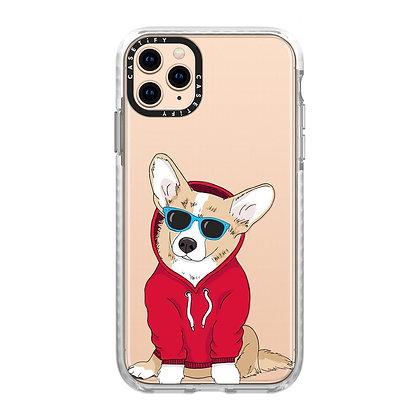 "Casetify iPhone 11 Pro Max 6.5"" Impact Case, Hipster Corgi"