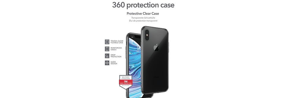 InvisibleShield Protection Case iPhone X/Xs 360, Ultra Clear
