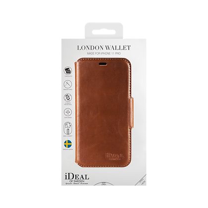 iDeal Of Sweden London Wallet Case iPhone 11 Pro, Brown