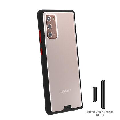 Hoda Samsung Galaxy Note20 5G Military Standard Case, Black