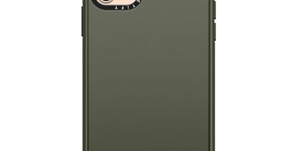 Casetify iPhone 11 Pro Max Impact Case, Solid Olive