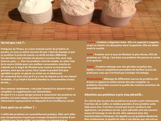 Les protéines en poudre, CQFD!