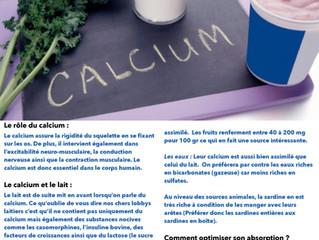 Le calcium, quels apports?
