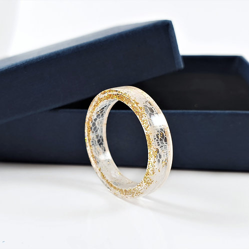 Wedding Lace Keepsake Ring - Bridal Dress Memento