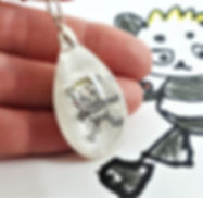 actual kids drawing keepsake keyring nec