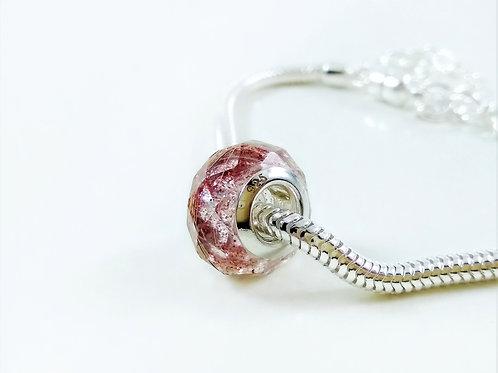 Hair Keepsake - Faceted European Bead Bracelet